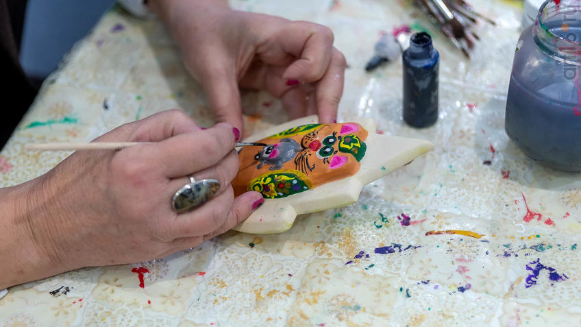 Мастер-класс по росписи Казанского кота::Арт-галерея 2019