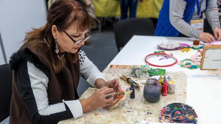 Алимова Нурания. Мастер-класс по росписи изделий из глины::Арт-галерея 2019