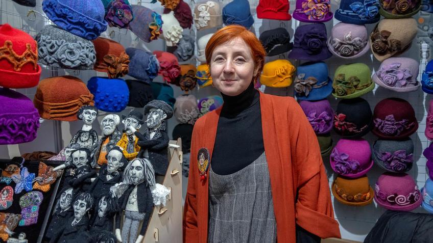 Фото №963961. Балабанова Ольга, женские шляпки из шерсти, Нижний Новгород