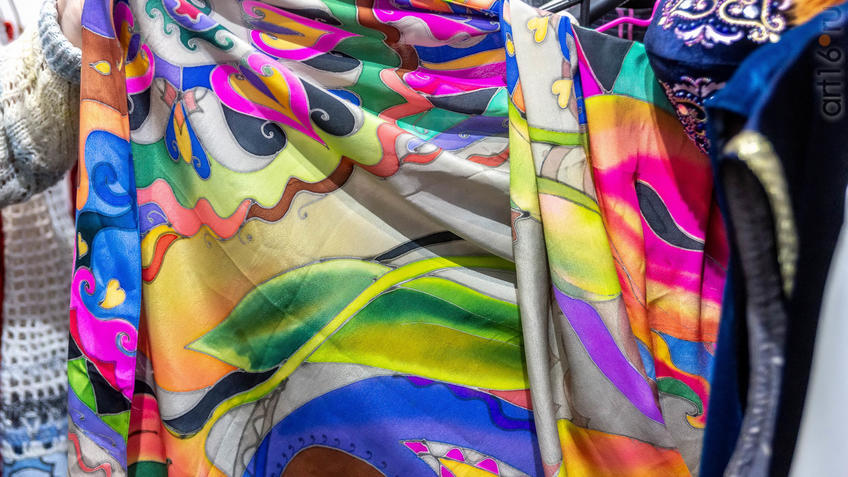 «Эбиволь», батик. Людмила Шуркова (Чувашия), дизайнер по костюмам, модельер::Арт-галерея 2019