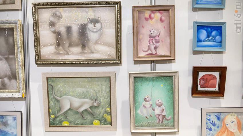 Коты Людмилы Бабаевой::Арт-галерея 2019