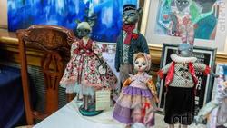 Фрагмент экспозиции  «Dolls place» выставка авторских кукол, Казань