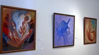 Фрагмент экспозиции выставки В.Аршинова