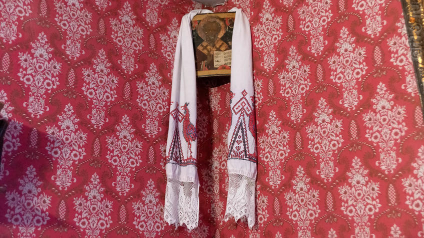 Красный угол жилой комнаты М.А.Ромася::2019 год. Музей А.М.Горького в Красновидово - 40 лет