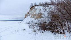 Волжский берег села Красновидово. Зимний вид, декабрь 2019 г.