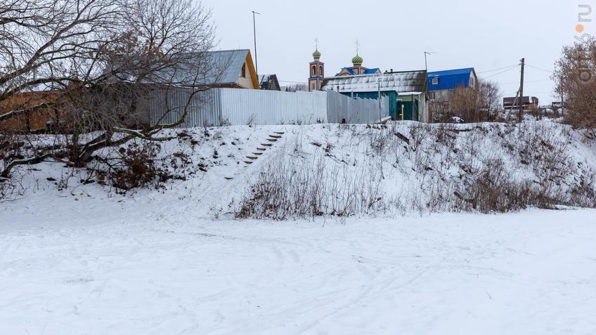 Фото №965679. Вд с берега Волги на село Красновидово