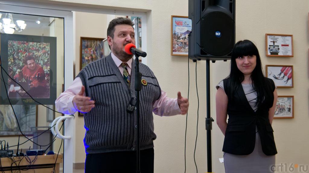 Открытие выставки «ВыставКАрикатур». Вячеслав Бибишев::«ВыставКАрикатур», 30 марта 2012