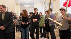 На открытии выставки  «ВыставКАрикатур»
