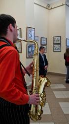 Музыка в галерее Мазитова. Открытие выставки   «ВыставКАрикатур»