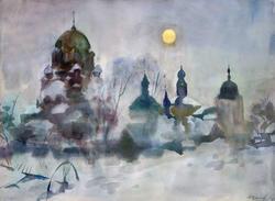 Сумерки в Свияжске. 2010. Крылов А.И., 1951, Зеленодольск