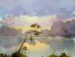 Рассвет на озере. 2011. Вьюшков В.В., пос Васильево