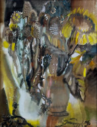 Натюрморт с подсолнухами. 2001. Бусова Э.Б., 1942, Казань