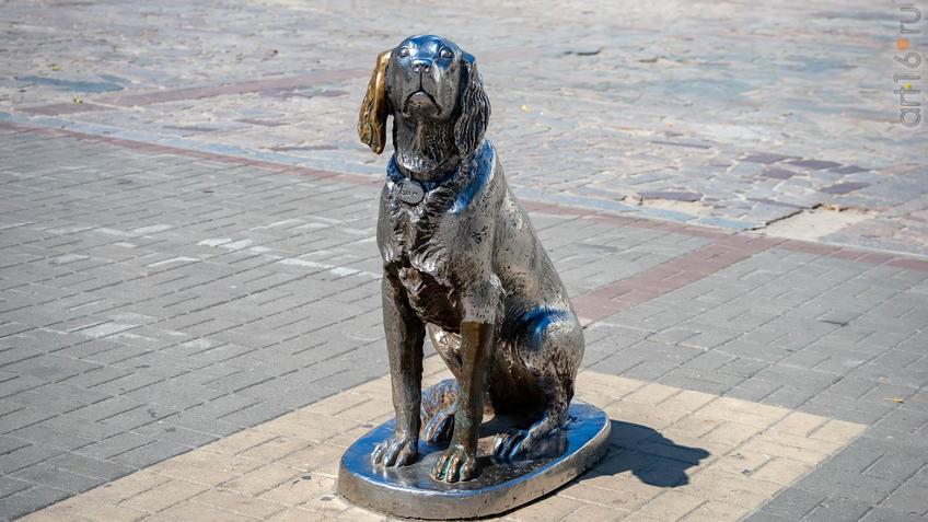 Памятник  «Белый Бим Чёрное ухо»::Воронеж 20.07.2019
