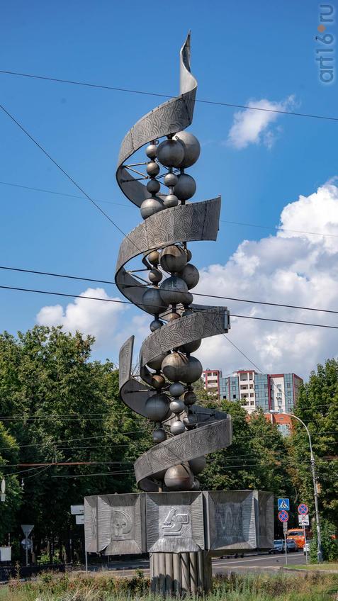 Памятник советской науке (Молеккула ДНК)::Воронеж 20.07.2019