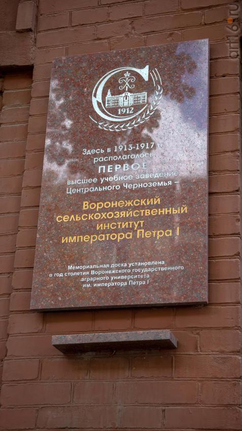 Мемориальная доска, установлена в год 100-летия Воронежского Гос. аграрного университета::Воронеж 20.07.2019