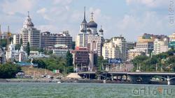 Чернавский мост. Вид на центральный район Воронежа