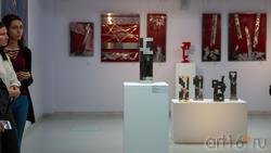 Фрагмент экспозиции выставки На открытии выставки Массимо Гьотти  «Гуманность металла»