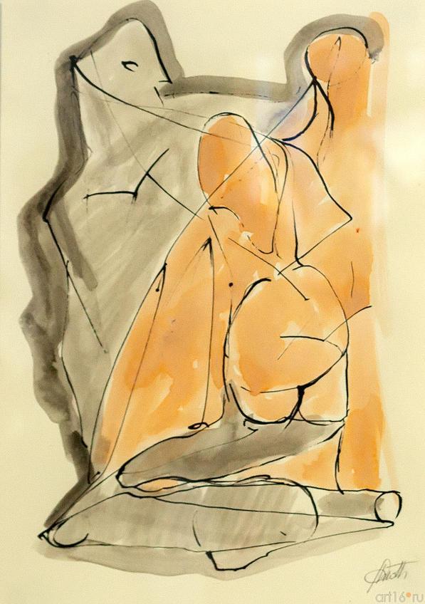 Пейзаж и фигура. 2009. Массио Гьотти::Массимо Гьотти «Гуманность металла»