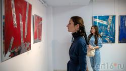 В экспозиции выставки Массимо Гьотти «Гуманность металла»