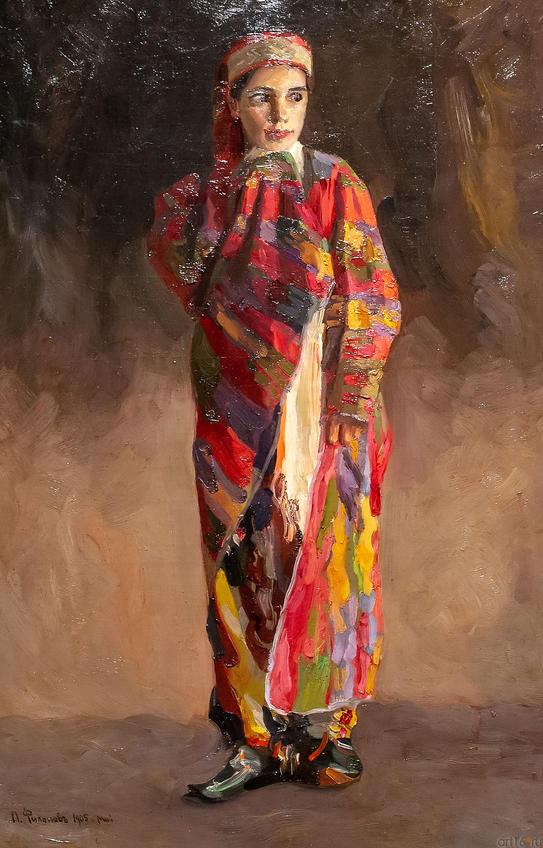 Женщина в восточной одежде. 1905. Павел Николаевич Филонов. 1883-1941::Павел Филонов «Глаз видящий, глаз знающий»