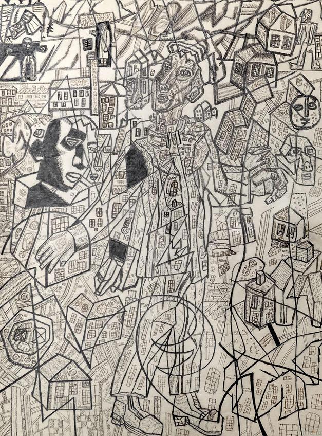 Шкет-изобретатель. 1925. Павел Николаевич Филонов. 1883-1941::Павел Филонов «Глаз видящий, глаз знающий»