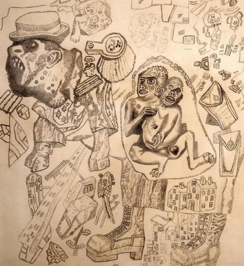Налетчик. 1926-1927Павел Николаевич Филонов. 1883-1941::Павел Филонов «Глаз видящий, глаз знающий»