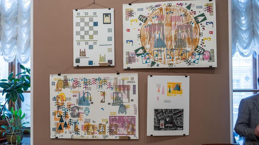 Фрагмент экспозиции выставки «Пространство города»::Международная выставка графики «Пространство города»