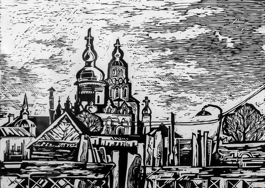 Успенский монастырь. 2015. Регина Маврина. 1992::Международная выставка графики «Пространство города»
