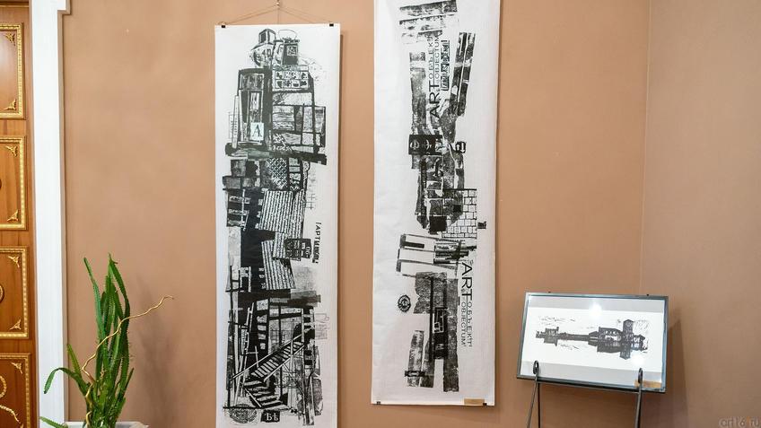 Городской лексикон, лист 1. 2019 / Городской лексикон, лист 2. 2019. Александр Артамонов, 1958::Международная выставка графики «Пространство города»