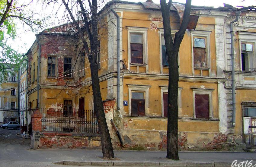 Бывш. гостиница Дворянского Собрания. В 1833 останавливался А.С.Пушкин::Казань