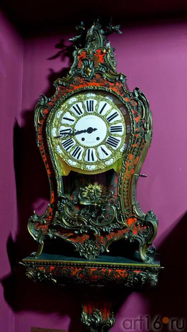 Часы-картель с консолью Павлин, Франция, XVIII в. Время Людовика XV