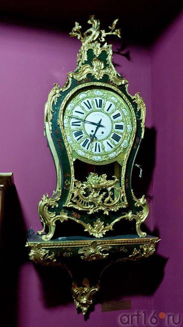 Часы-картель с консолью Павлин. Франция XVIII. Время Людовика XV