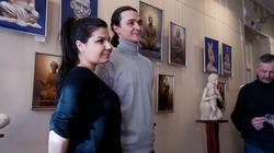 Алексей Леонов на закрытии выставки ''Молитва в скульптуре''