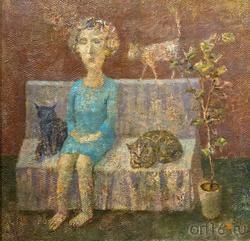 Мадам и две кошки. Олег Иванов