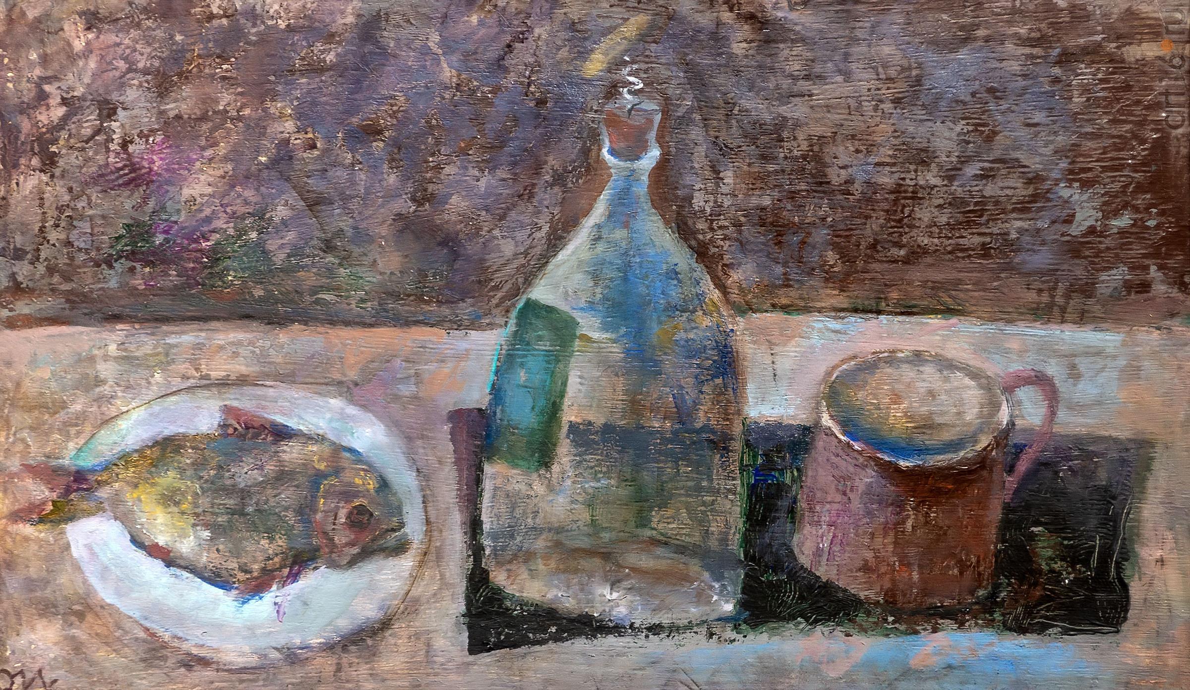 Натюрморт с рыбой. Олег Иванов:: Олег Иванов (1961-2020). Выставка
