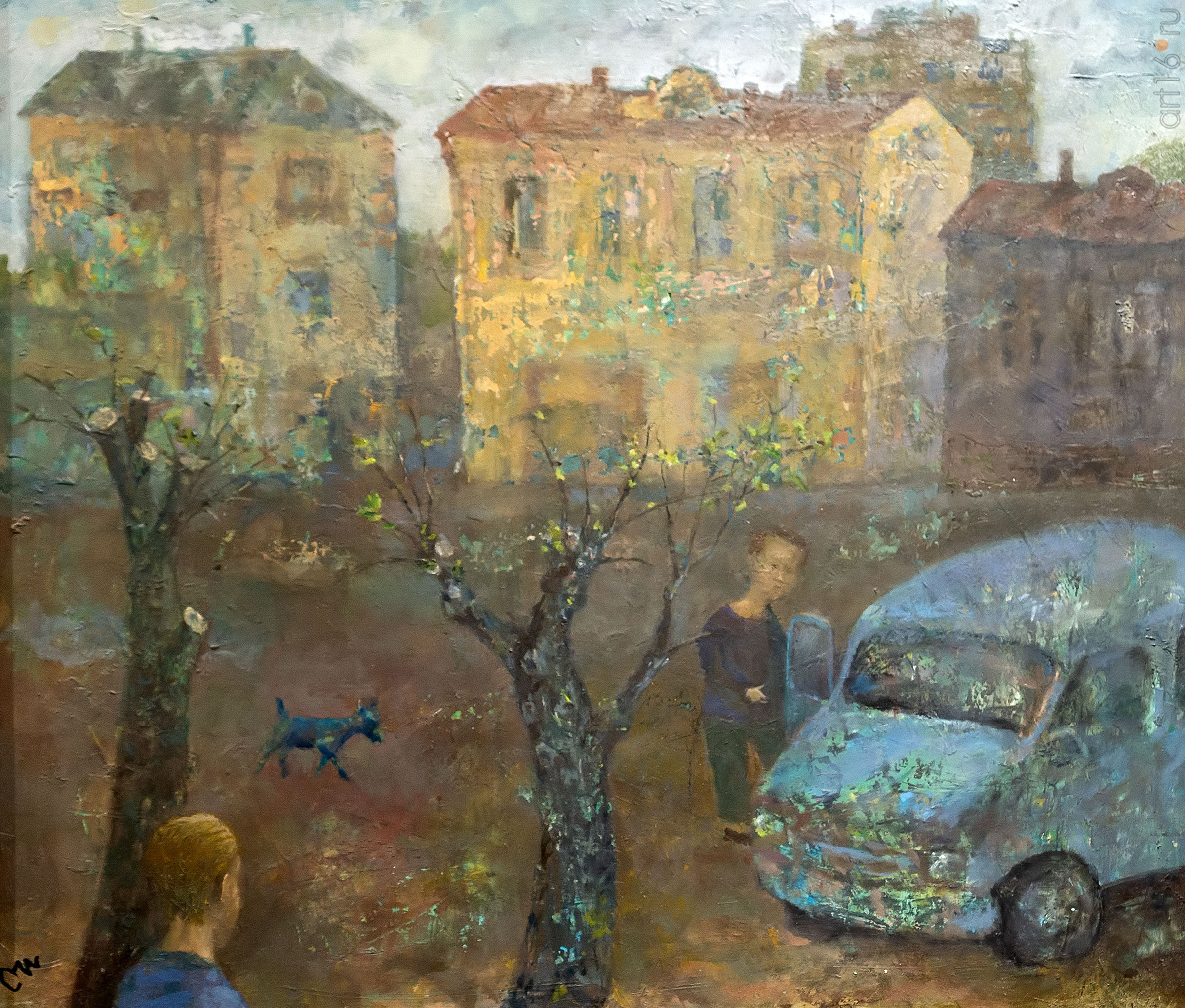 Двор. Олег Иванов:: Олег Иванов (1961-2020). Выставка