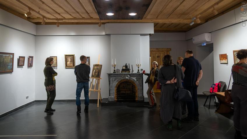 На открытии выставки Олега Иванова:: Олег Иванов (1961-2020). Выставка