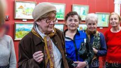 На открытии выставки Альберта Галимова