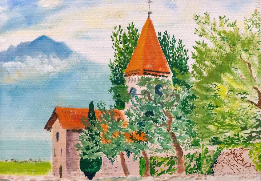 Церковь Сен-Сюльписа. 2019. Альберт Галимов::Альберт Галимов. Выставка «Швейцарские часы»