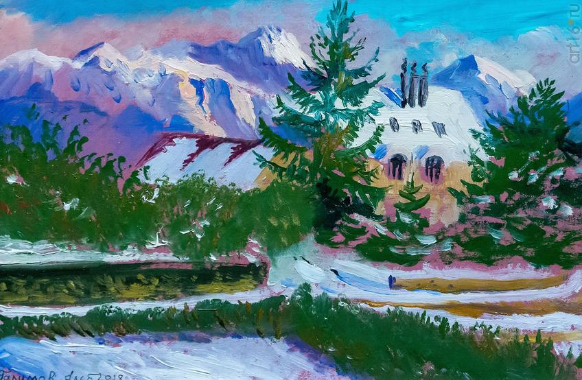 Сен-Сюльпис под снегом. 2018. Альберт Галимов::Альберт Галимов. Выставка «Швейцарские часы»