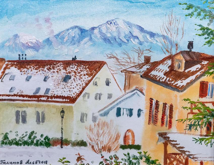 Сен-Сюльпис. Снег в марте. 2018. Альберт Галимов::Альберт Галимов. Выставка «Швейцарские часы»