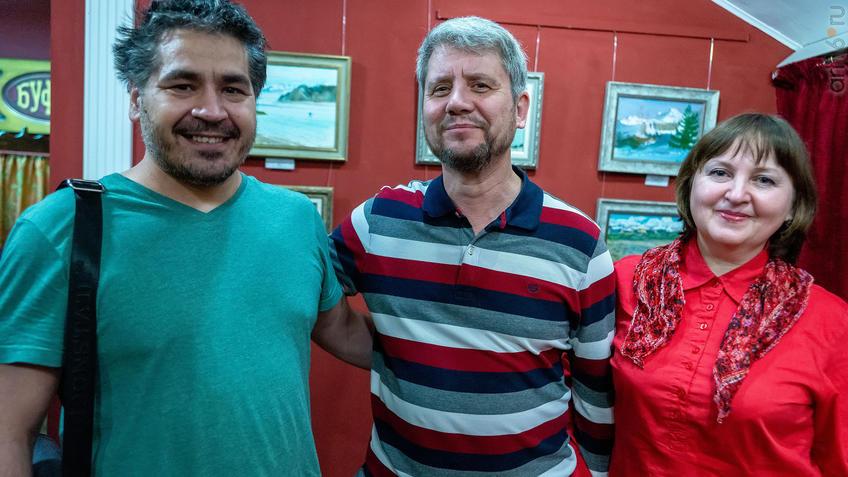 Альберт Галимов с друзьями художниками::Альберт Галимов. Выставка «Швейцарские часы»