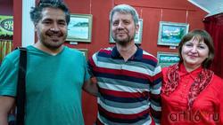 Альберт Галимов с друзьями художниками