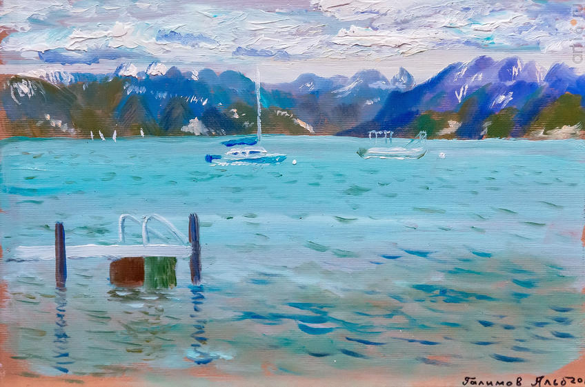 Женевское озеро. 2017. Альберт Галимов::Альберт Галимов. Выставка «Швейцарские часы»