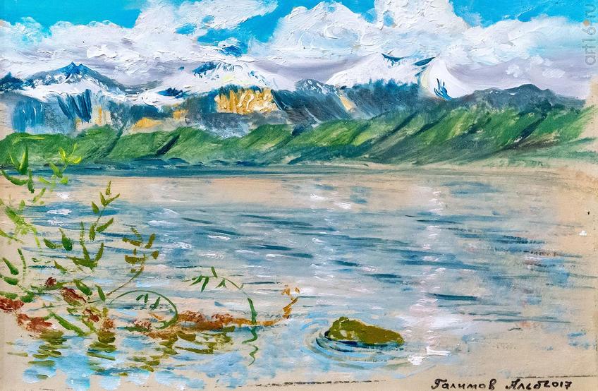 Женевское озеро. Горы в снегк. 2017. Альберт Галимов::Альберт Галимов. Выставка «Швейцарские часы»