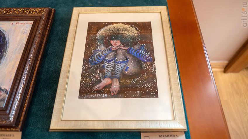 Снегопад. 1988. Бусыгин А.::Выставка Союза художников Республики Татарстан «50 женских ликов»