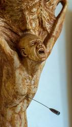 Война - точка отсчета или, может быть, начало, а может, и конец, дерево (фрагмент), 2020. С.Максимов