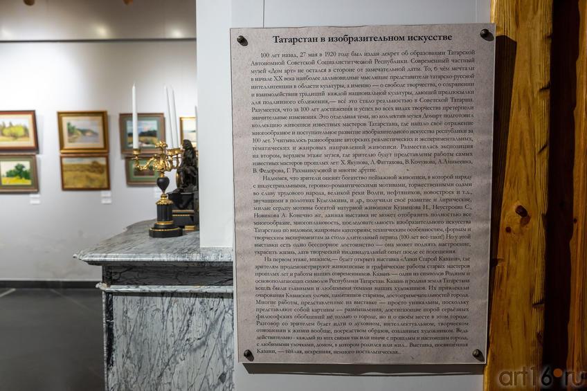 Фрагмент экспозиции выставки к 100-летию ТАССР::Выставка к 100-летию ТАССР