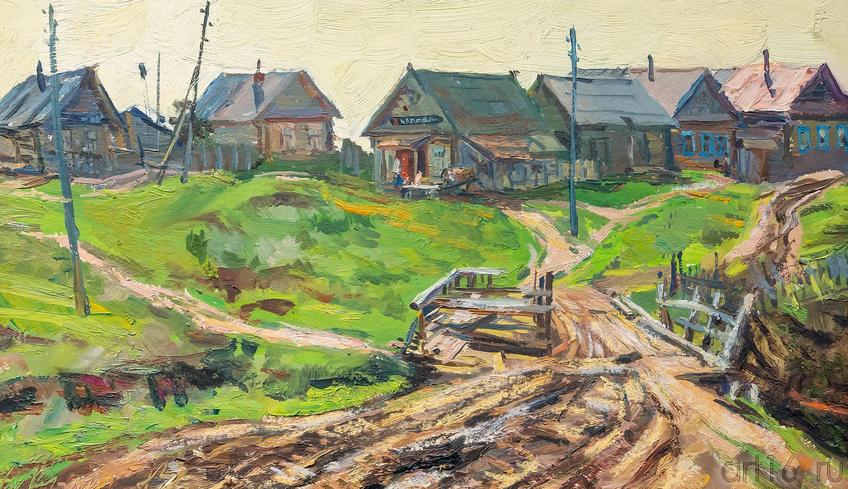 Мост в деревне Ташёвка, 1963. Куделькин В.И.::Выставка к 100-летию ТАССР