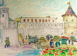 Башня Казанского Кремля. 1969. Рахманкулова Г.А.